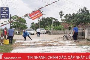 Can Lộc lập 3 chốt kiểm dịch tả lợn châu Phi vùng giáp ranh Lộc Hà