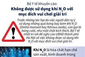 Khuyến cáo những tác hại của khí N2O trong bóng cười đối với con người