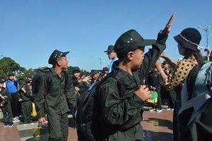 320 học sinh tham gia trải nghiệm làm chiến sĩ Công an