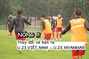 Trận U.23 Việt Nam - U.23 Myanmar thay đổi phương thức bán vé