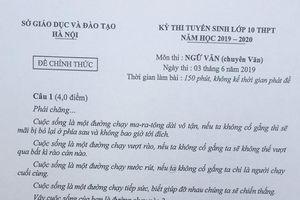 Giáo viên nói gì về đề thi chuyên văn của Hà Nội?