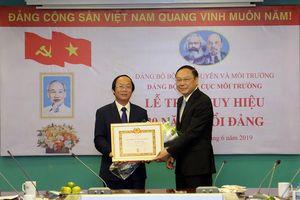Thứ trưởng Bộ TN&MT Võ Tuấn Nhân vinh dự nhận Huy hiệu 30 năm tuổi Đảng