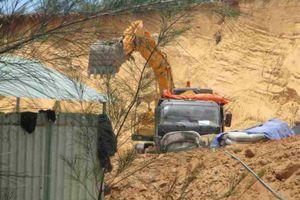 Bình Định: Khai thác cát Khu kinh tế Nhơn Hội chưa có giấy phép để làm bến xe Nhơn Lý