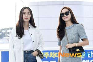 Cặp chị em nổi nhất nhì xứ Hàn Jessica và Krystal sành điệu ở sân bay