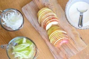 Uống nước hành tây và táo để loại bỏ chất béo, tàn nhang và chống lão hóa hiệu quả chẳng cần ăn kiêng hay tập thể dục