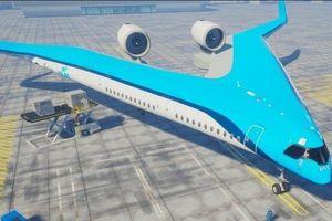 Máy bay có thiết kế hình chữ V cực độc, tiết kiệm 20% nhiên liệu