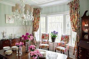 Vẻ đẹp ngọt ngào của những phòng ăn được tô điểm với sắc hồng