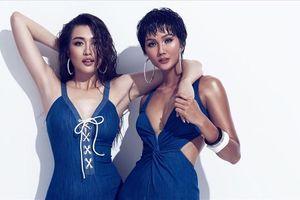 'Mẹ chồng - nàng dâu' Lệ Hằng và H'Hen Niê tung bộ ảnh bikini 'đồng điệu'