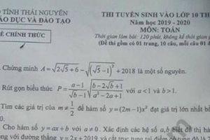 Đáp án đề thi tuyển sinh lớp 10 môn Toán năm 2019 ở Thái Nguyên