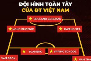 Biếm họa 24h: 'Chết cười' với đội hình toàn tây của ĐT Việt Nam