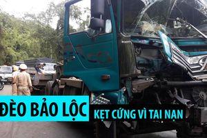 Đèo Bảo Lộc kẹt cứng, ô tô 'xếp hàng' nhiều km vì tai nạn