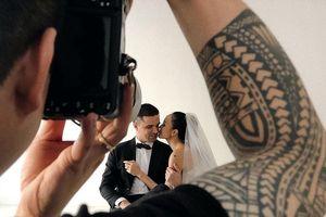 Siêu mẫu Phương Mai khoe ông xã ngoại quốc điển trai trong buổi chụp ảnh cưới