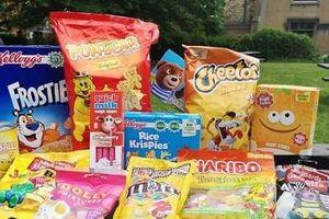 Nhiều thực phẩm có in ảnh hoạt hình trên bao bì không tốt đối với trẻ nhỏ