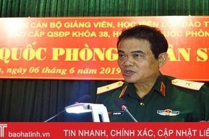 Học viện Quốc phòng tọa đàm công tác QP-QS địa phương tại Hà Tĩnh