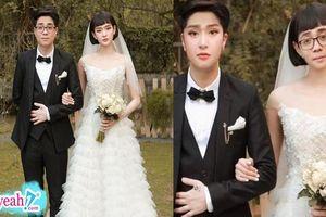 Bùi Anh Tuấn và Hiền Hồ được fan 'chế ' ảnh cưới, cặp đôi tráo mặt cho nhau thôi đã thấy tướng phu thê rồi