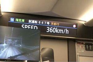 Tàu cao tốc Shinkansen mới chạy thử đạt 360km/h
