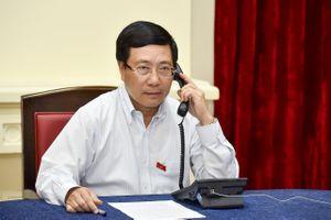 Phó thủ tướng điện đàm về phát biểu của thủ tướng Singapore