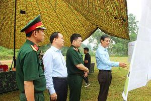 Lãnh đạo TP Hà Nội kiểm tra công tác chuẩn bị diễn tập khu vực phòng thủ
