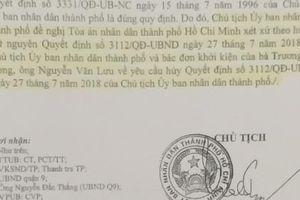 Chủ tịch UBND TP.HCM đề nghị Tòa án bác đơn khởi kiện của người dân