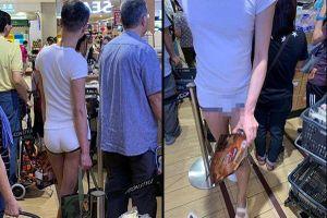 Mặc đồ phản cảm khi đi siêu thị, người đàn ông khiến chị em đỏ mặt, không dám nhìn