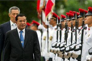 Thủ tướng Hun Sen phản đối mạnh mẽ phát ngôn của ông Lý Hiển Long