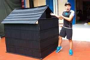 Vlogger NTN nhận 'gạch đá' khi thực hiện thử thách làm nhà từ 5.000 ống hút nhựa