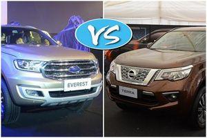 SUV 7 chỗ, trên 1 tỉ đồng mua Nissan Terra hay Ford Everest?