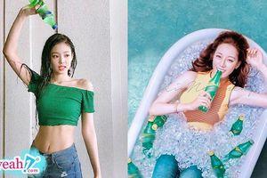 Địch Lệ Nhiệt Ba bị chê photoshop quá đà, khác 'một trời một vực' với Jennie (Black Pink) khi cùng quảng cáo nước uống