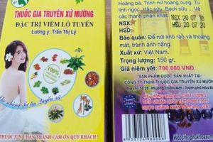 Bóc phốt thuốc gia truyền xứ Mường sử dụng tem giả Bộ Công an