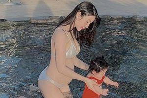 Diệp Lâm Anh chính thức khoe bụng bầu vượt mặt sau 6 tháng sinh con gái đầu lòng