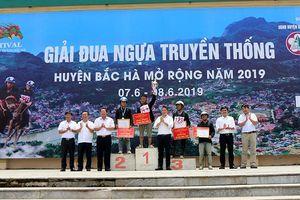 Hấp dẫn vòng chung kết Giải đua ngựa truyền thống tại Festival 'Cao nguyên trắng Bắc Hà'