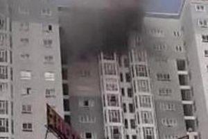 Hà Nội: Cháy tại tầng 20 chung cư New Horizon City, người dân hoảng sợ