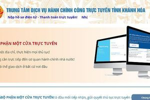 Khánh Hòa công bố Danh mục thủ tục hành chính tiếp nhận và giải quyết trực tuyến mức độ 3, 4