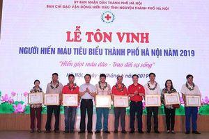Hà Nội tôn vinh người hiến máu tiêu biểu năm 2019