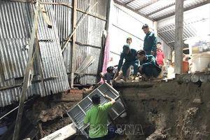 Liên tiếp sạt lở bờ sông ở Cà Mau, nhiều nhà dân bị sụt lún
