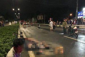 Xe container va chạm xe máy trong đêm, hai người thương vong