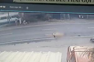 Khoảnh khắc chiến sĩ CSGT bị container cán tử vong tại Tiền Giang