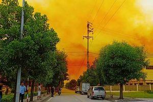 Người dân lo ngại khói màu vàng tại KCN Phúc Điền là khí thải độc hại