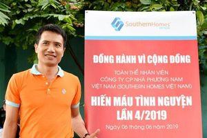 Hơn 300 nhân viên Southern Homes Việt Nam hiến máu tình nguyện