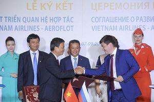 Vietnam Airlines và Aeroflot đẩy mạnh hợp tác