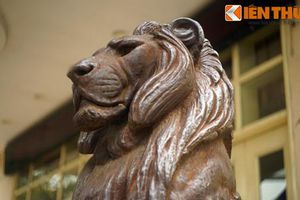 Lý lịch 'sốc' của cặp sư tử bằng đồng trăm tuổi ở HN