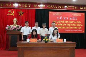 Ký kết Quy chế phối hợp giữa UBND và TAND tỉnh Thanh Hóa