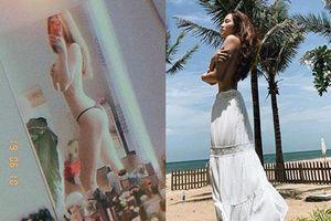 Linh Chi lấy tay che ngực trần sau khi 'tình địch' Lý Phương Châu tung ảnh bán nude bỏng mắt