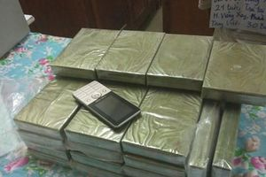 Đối tượng người Lào vận chuyển 30 bánh heroin sang Việt Nam