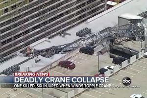 Cần cẩu đè vỡ chung cư khiến 7 người thương vong