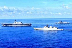 Tàu sân bay Nhật Bản vượt Biển Đông để đến Ấn Độ Dương
