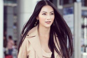 Phương Khánh khoe nhan sắc nữ thần khi lên đường chấm thi quốc tế