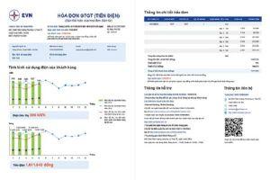 EVN đưa biểu đồ vào hóa đơn tiền điện để khách hàng so sánh