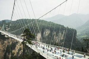 Thử cảm giác mạnh với cây cầu kính dài nhất thế giới ở Trương Gia Giới