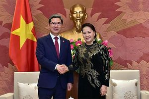 Chủ tịch Quốc hội tiếp Chủ tịch Nhóm Nghị sĩ hữu nghị Hàn Quốc - Việt Nam